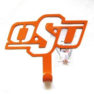 metal osu wall hook, osu wall art, oklahoma state university