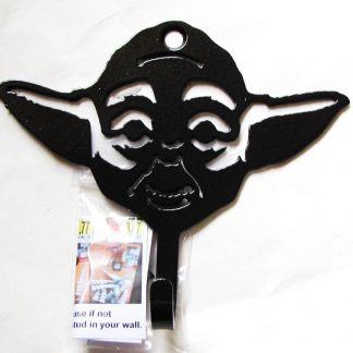 metal star wars yoda wall hook, yoda wall art