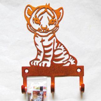metal baby tiger wall hooks key hooks
