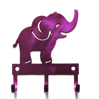 metal baby elephant wall hooks
