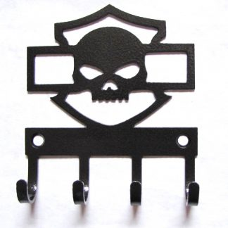 metal skull harley wall hooks