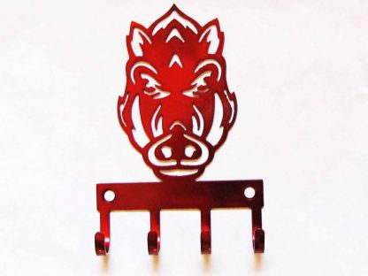 Metal Arkansas Razorback Wall Hooks