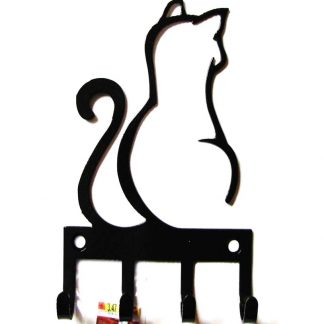 metal cat wall hook, cat wall art