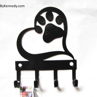 metal heart paw wall hooks leash hooks
