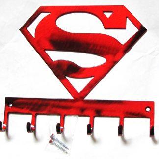 metal superman wall hooks, superhero wall art