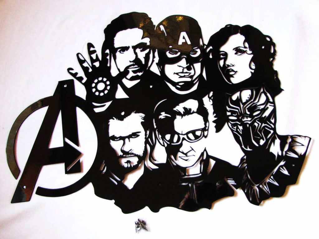 Avengers Collage Metal Wall Art