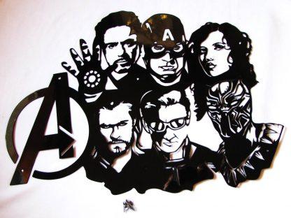 metal avengers wall art