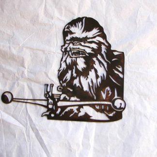 star wars chewbacca metal wall art