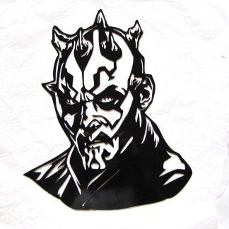star wars darth maul metal wall art