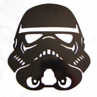 star wars storm trooper helmet metal art