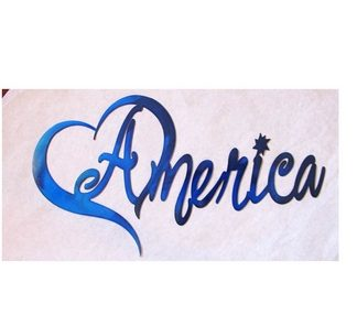 heart america metal wall art
